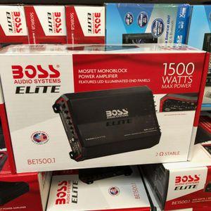 Boss Elite 1500 watt amplifier on sale today for only 89 for Sale in Lawndale, CA