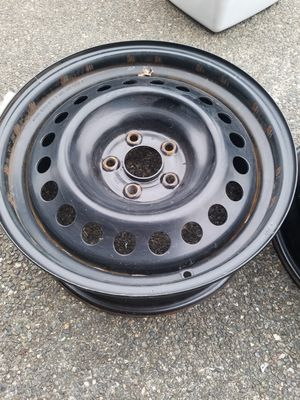 """Black steel 17""""inch wheels/rims for Sale in Bothell, WA"""