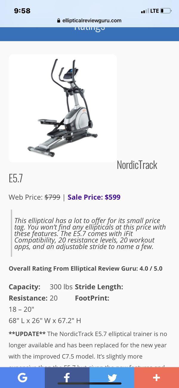 NordicTrack E5.7 Elliptical
