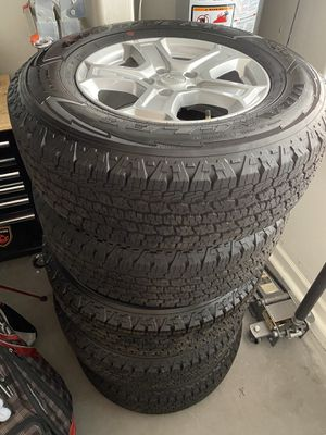 Wrangler take off wheels brand new - all terrain tires for Sale in Phoenix, AZ