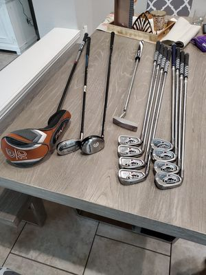 LEFT HANDED PING AND CLEVELAND GOLF CLUB IRONS SET $400 for Sale in Frisco, TX