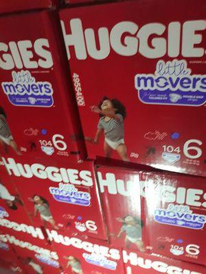 HUGGIES LITTLE MOVERS SIZE 6 $33 CADA UNO PRECIO FIRME DISPONIBLES EN SANTA ANA for Sale in Santa Ana, CA