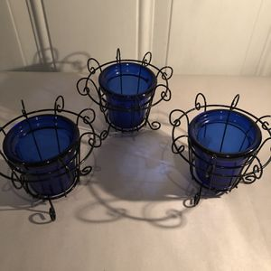 Cobalt Blue Candle Holders for Sale in Eddystone, PA