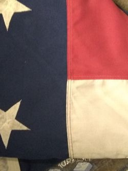 Huge! American Flag.. 14' X 7' Nice Fabric With Embroidered Stars for Sale in Omaha,  NE