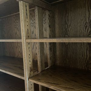 Solid Oak Bookshelf With Adjustable Shelves for Sale in Portland, OR
