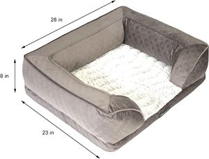 NEW! Beautyrest Supreme Comfort Couch Dog & Cat Bed, Gray, Medium! for Sale in Des Plaines, IL