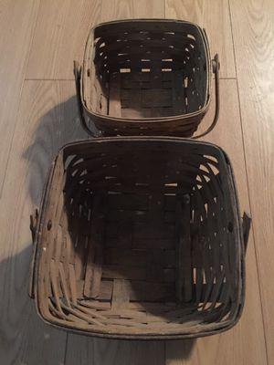 Two Longaberger Baskets for Sale in Phoenix, AZ