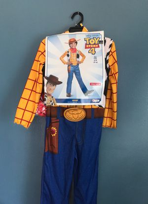 DISNEY TOY STORY4 WOODY COSTUME GREAT FOR BIRTHDAY OR DRESS UP KIDS SIZE SMALL 4/6 for Sale in Rialto, CA
