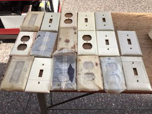 Lot of Vintage Switch Plate Covers and Accessories for Sale in Mountain View, CA