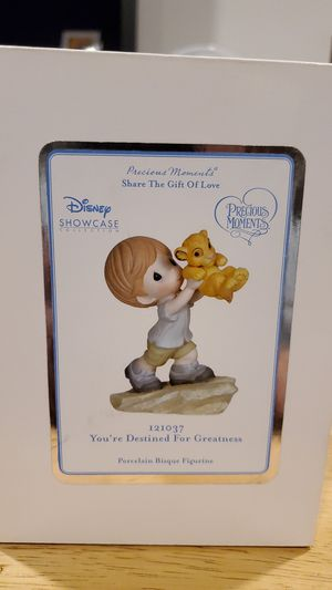 Precious Moments 121037 Disney Showcase The Lion King You're Destined for Greatness Bisque Porcelain Figurine for Sale in Spanaway, WA
