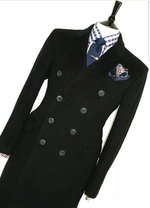 LUXURY MENS BURBERRY PRORSUM LONDON BLACK COAT PEACOAT OVERCOAT JACKET 44R for Sale in Boston, MA