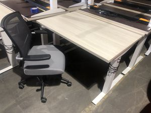 Sit to stand electric desk and chair for Sale in Tracy, CA