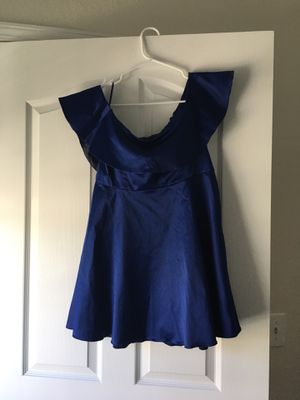 Royal blue homecoming dress for Sale in Spring, TX