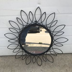 1 Small iron wall ornate sun mirror decor. for Sale in Irving, TX