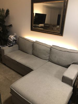 Sleeper Sectional Couch w Storage for Sale in Los Angeles, CA