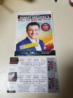Robert Herjavec's Will to Win Method VIP Tickets STARTS today at noon for Sale in St. Louis, MO