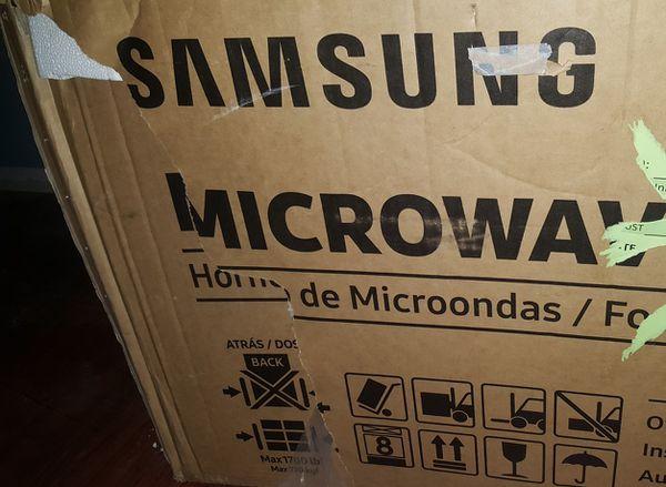 New Samsung over the range microwave