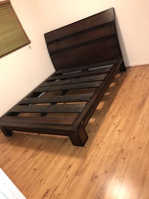 Queen bedroom Set it is solid wood Include mattress It is solid wood, for Sale in Gilbert, AZ