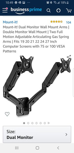 Mount-it Dual Monitor Arms for Sale in Hialeah, FL