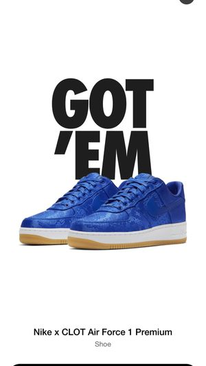 Nike Air Force 1 Clot Blue Silk (Size 8 ) 100% Authentic for Sale in Miami, FL