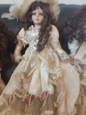 Antique Porcelin doll with stand old real hair $75.00 for Sale in Long Beach, CA