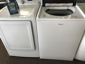 Whirlpool 5.3 washer and Samsung dryer!! for Sale in Orlando, FL