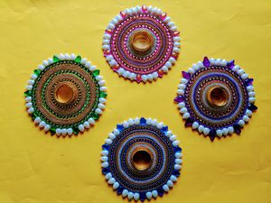 Holiday special - Kundan style Candle holders for Sale in South Brunswick Township, NJ