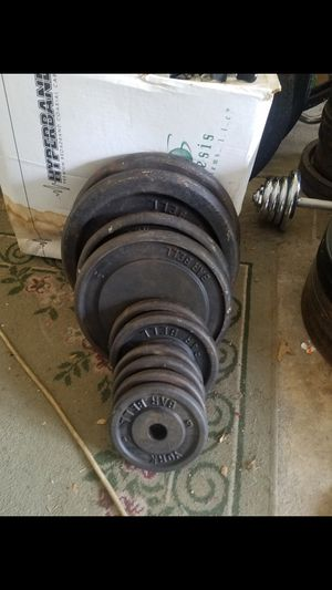 Barbell standard 1in York weight set for Sale in Tinley Park, IL