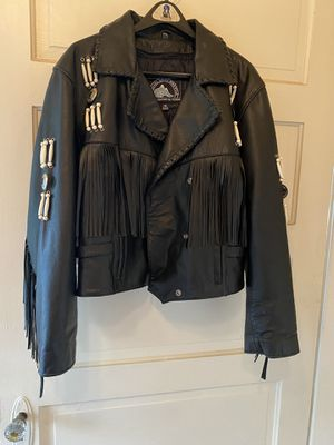 Ladies leather motorcycle jacket for Sale in Sultan, WA