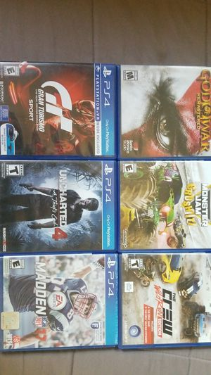 Ps4 games for Sale in Fowler, CA