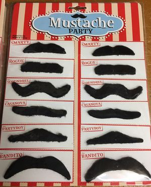 Party Favor Silly Mustaches 12PC Card Lot of 9 Cards 108 PCS for Sale in Concord, MA