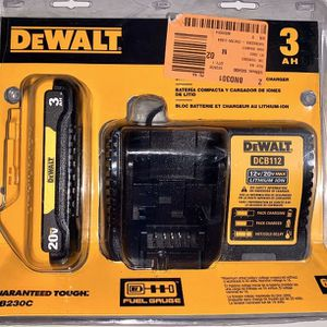 DEWALT 20-Volt MAX Lithium-Ion Battery Pack 3.0Ah with Charger for Sale in Azusa, CA