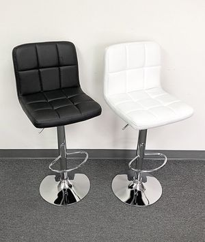 """New in box $40 each Square Barstool Chair Swivel Bar Stool PU Leather (Adjustable Seat Height 24-32"""") for Sale in South El Monte, CA"""