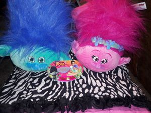 Trolls pillow pets for Sale in Fort Worth, TX