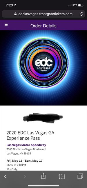EDC Las Vegas 2020 for Sale in Tucson, AZ