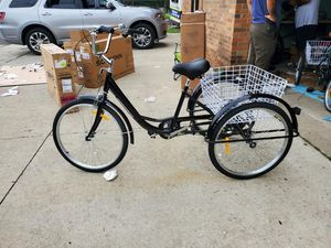 """24"""" and 20"""" Adult Tricycle w/ Basket Men?s Women?s Cruiser Bike for Sale in Dearborn, MI"""