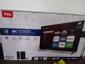 Tcl 50 in 4k Roku TV brand new never out the box for Sale in Charleroi, PA