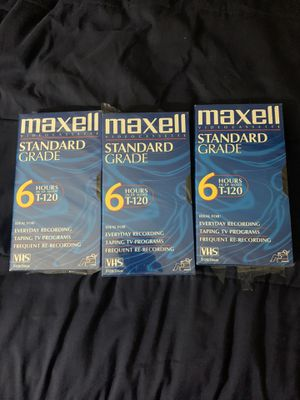 Maxell vhs tapes new (3)!!!! for Sale in Orlando, FL