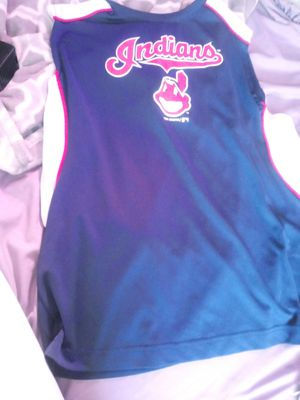 2 days till opening day get it now !!!Cleveland indians baseball jersey for Sale in Cleveland, OH