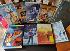 8 movies DVD, IGE AGE,Bambi, Gaspar,TOY story,Beauty and beast, That dreams May come, peak experience, for Sale in Los Angeles, CA
