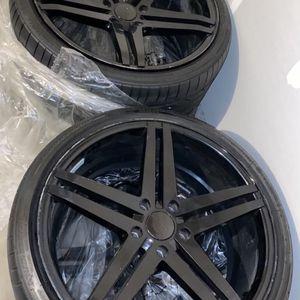 20 Inch Black Rims for Sale in Rockdale, IL