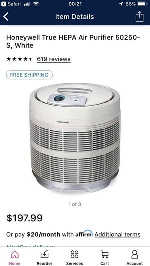 Honeywell True HEPA Air Purifier for Sale in Atlanta, GA
