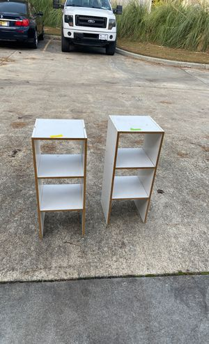 Stackable white storage shelves for Sale in Virginia Beach, VA