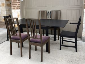 Wood Kitchen / Dining Table with 6 Chairs for Sale in Katy, TX