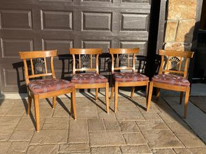 4 wooden chairs for Sale in Sandy, UT