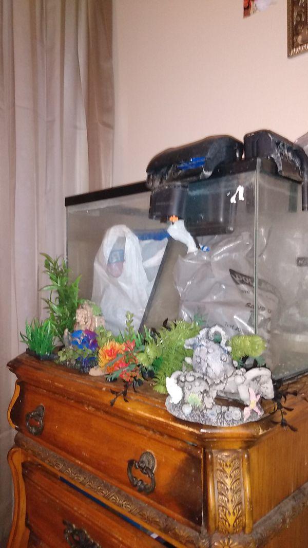 Fish aquarium w/ filters &etc.