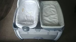 Graco Pack n Play: Play yard crib: with diaper changing station and bouncer for Sale in San Diego, CA