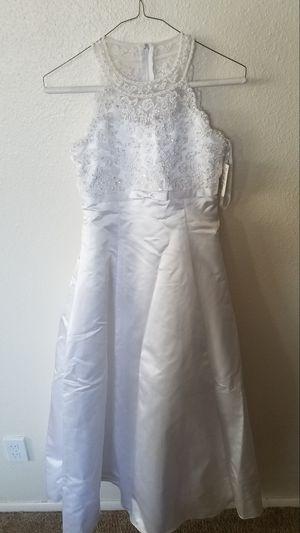 Size 12 girls wedding bridesmaids flower girl dress Halloween costume corpse bride dia de los muertos for Sale in Avondale, AZ