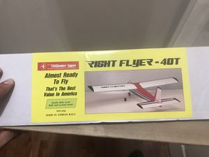 Thunder tiger right flyer rc nitro plane new vintage for Sale in Missouri City, TX