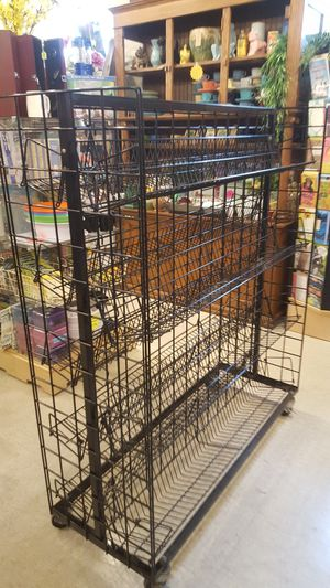 Metal carts on wheels 2 sided ajustable shelves for Sale in Oak Park, IL